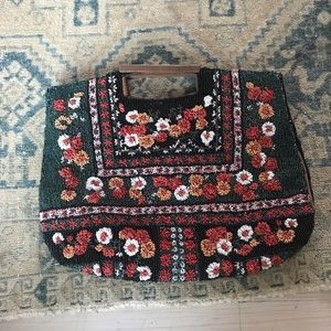 Beaded Anthro clutch purse